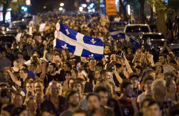 Etudiants québecois à Montréal